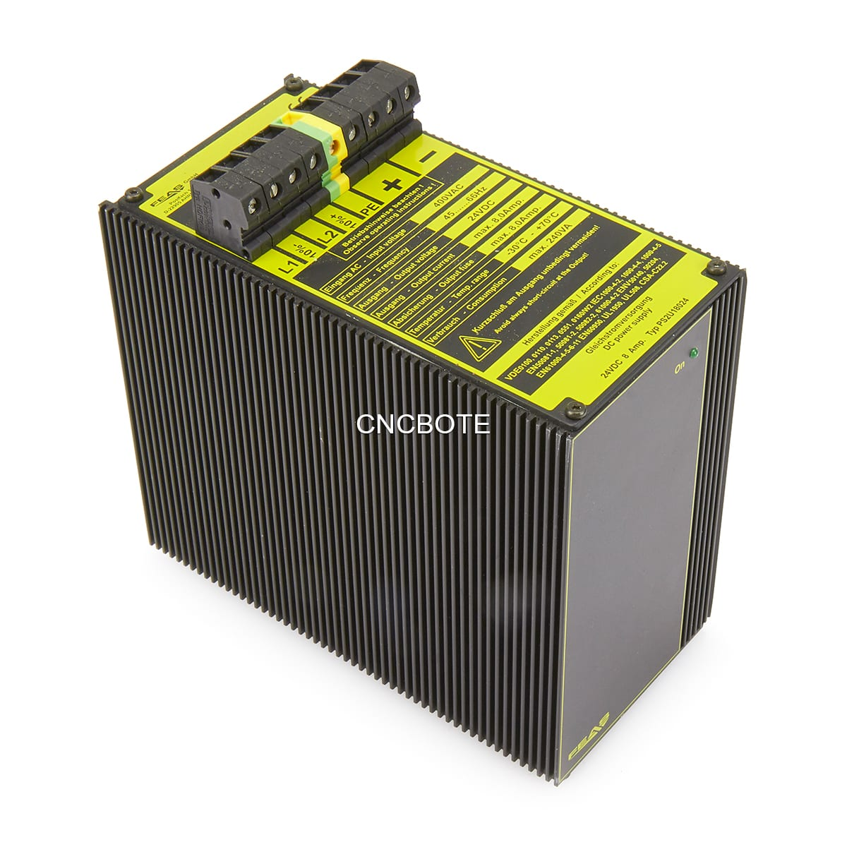 Feas Ps2u18024 24vdc 8 Amp Direct Current Dc Power Supply Cnc Bote The From A Battery Is