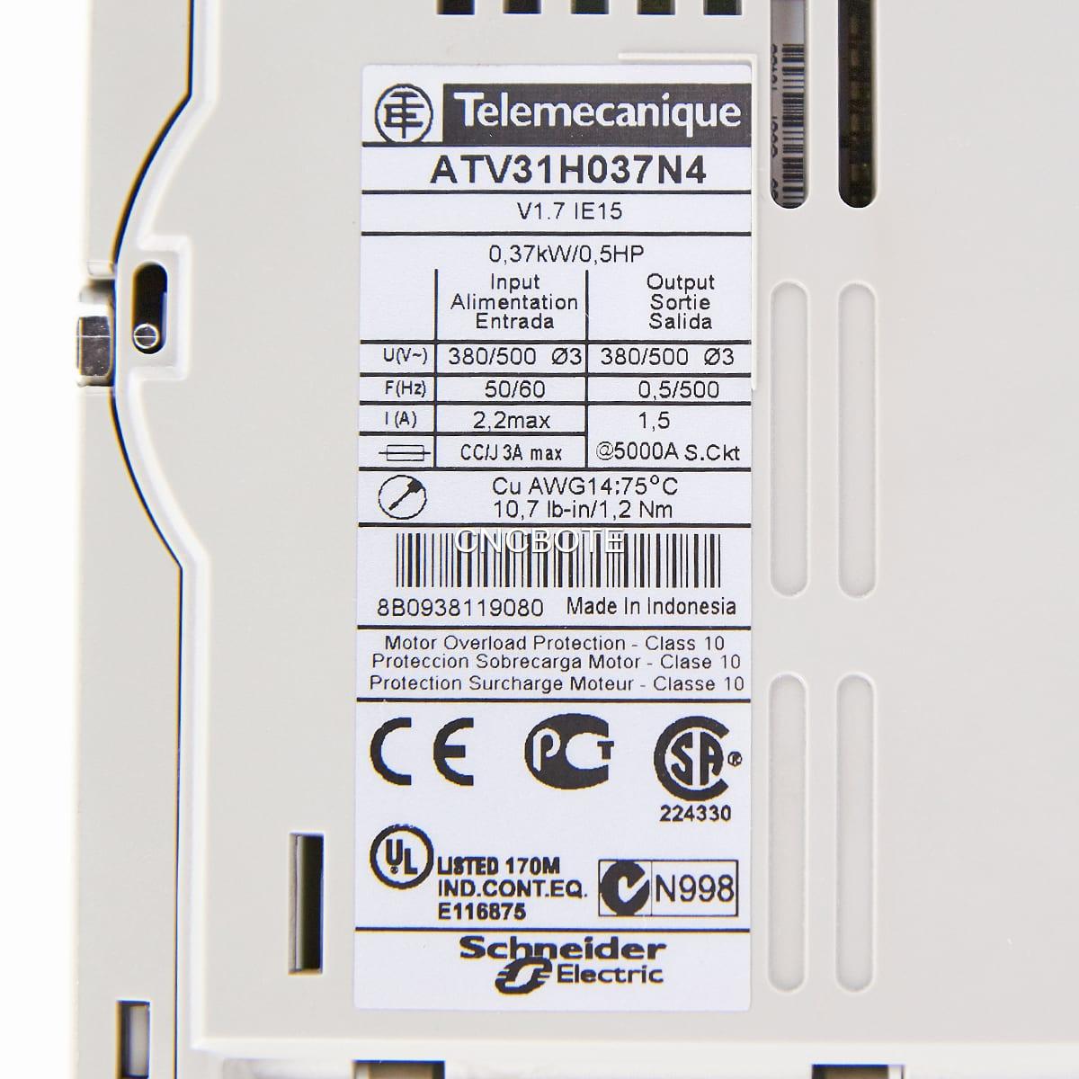 Telemecanigue Altivar 31 ATV31H037N4 0,37KW//0,5HP