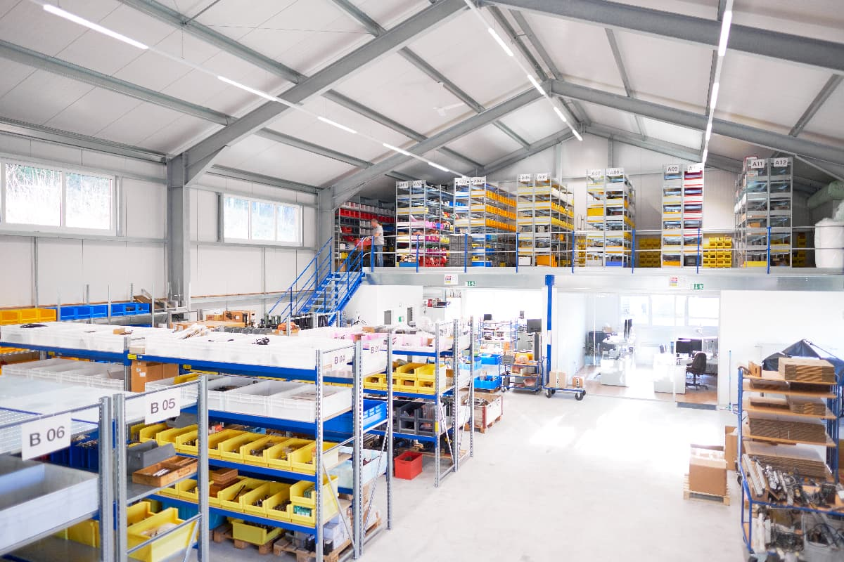 The CNC BOTE automation and control parts warehouse